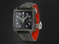 Custom Tag Heuer Monaco watch.