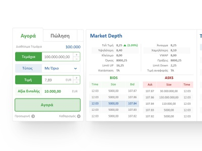 Alpha Finance Buy Sell module. ux design ui  ux ui trading platform ignota.io banking finance trading