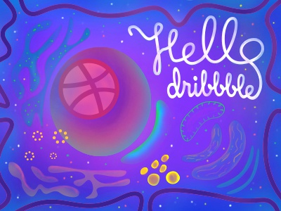 Hello Dribbble! you thank shot first hello cell debut