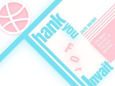 Thanks for invait! font graphic shot thanks invait