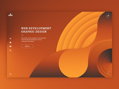 Main page of the website of our Studio gradient designstudio homepage concept