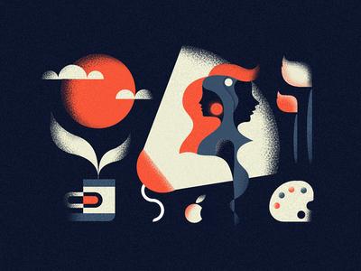 Designers cleen minimalizm graphics vector school old