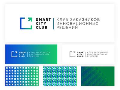 Logo Smart sity club style corporate branding gradient pattern logo
