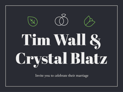 Tim & Crystal Invitations
