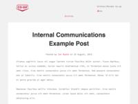 Internal Communications Blog (WIP)