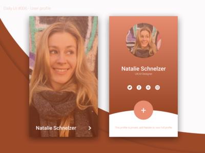 Daily Ui 6 - User Profile