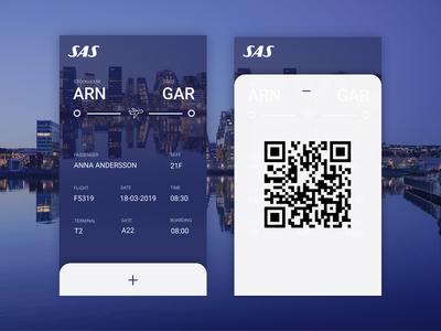 Daily Ui 24 - Boarding pass