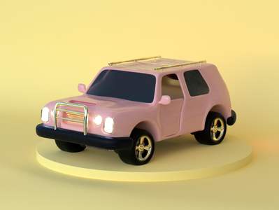 Pink Suv Miniature