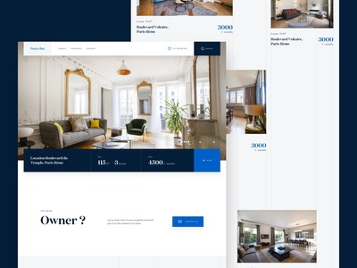 Find a Flat - Explorations square architecture flat landing website ui real estate