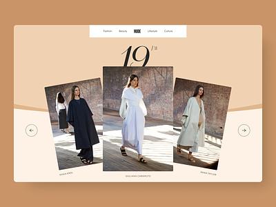 Nude - Photo Slider color palette nude fashion beige design minimal clean interface website ui animation photo slider