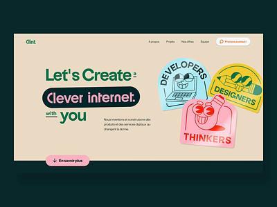 Clint - New website landing page preloader loader logo design minimal clean interface website ui animation agency landing