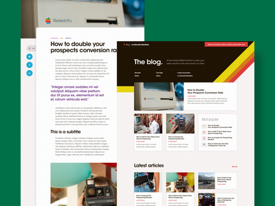 La Growth Machine - Blog landing article system typography fresh old school blog retro vintage branding design minimal clean interface website ui