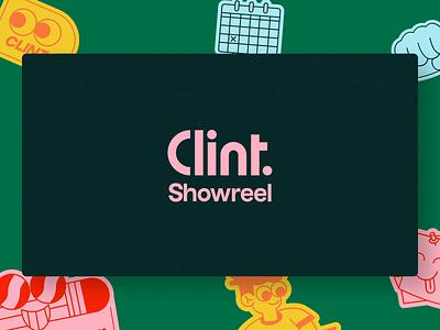 Clint - 2020 Showreel app product mobile app clean landing interface ui website motion design motion 3d animation agency clint showreel