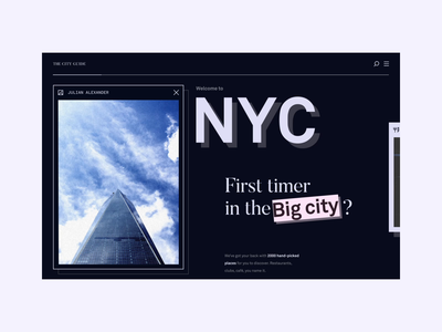 Welcome to NYC introduction landing page new york nyc website loading animation dark dark blue