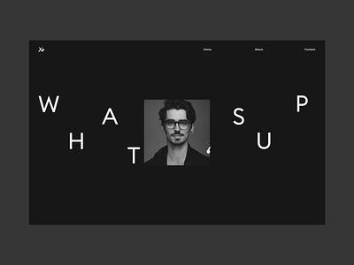 Portfolio 2019 | Yoann Baunach | About Page scroll animation black porfolio about website