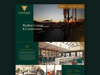 Vantage Landing Page grid web design website design website builder website