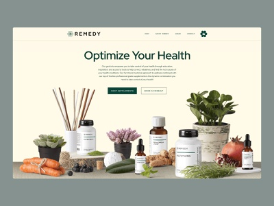 Remedy Health Site health ecommerce website design website