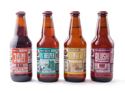 Mothers Brew Co. beer labels branding graphic design brewing labels beer