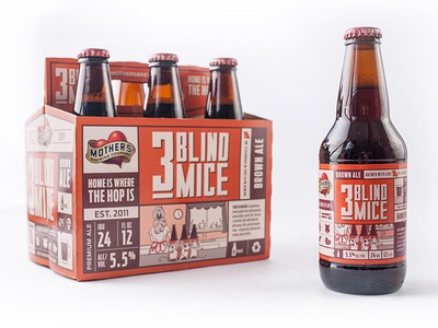 Mothers Brewing Co. labels & 6-pack redesign packaging label rebrand beer 6-pack