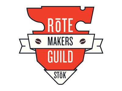 Rote Makers Guild coffee branding anvil shield