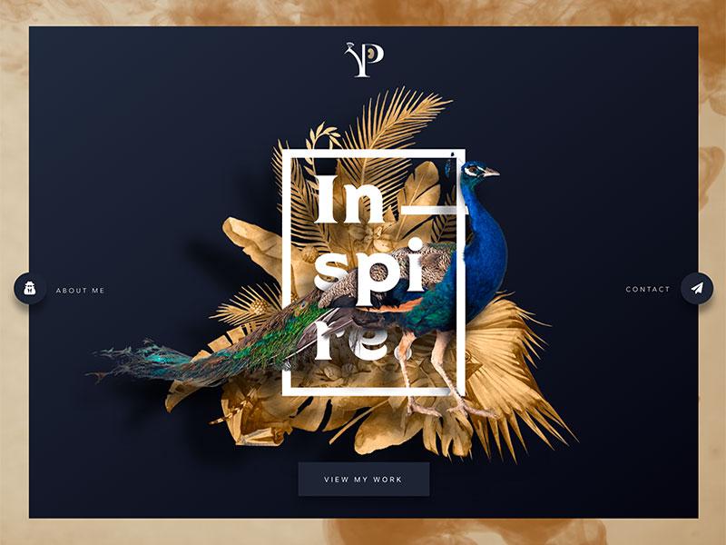 Peacockerie Site Update web design homepage peacock website landing page