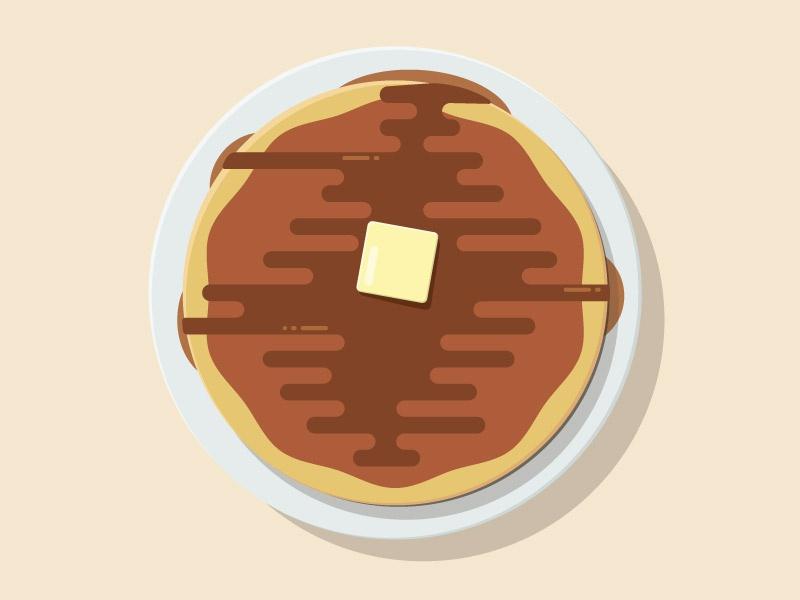 Pancakes vector illustration butter pancakes