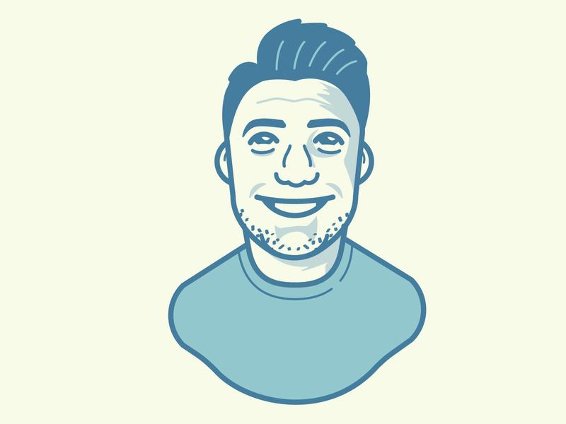 Bluish Avatar bust avatar vector vector avatar