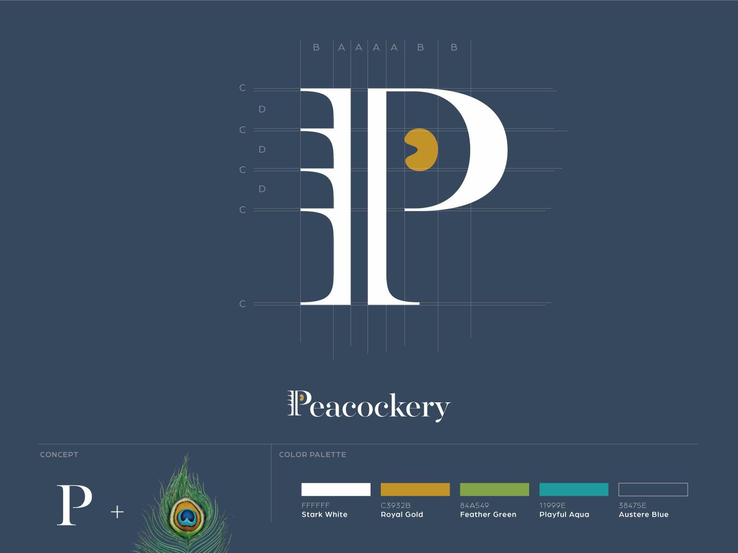 Peacockery Logo peacock branding logo
