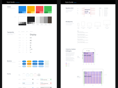 Style Guide Template style guides ui style guide sketch
