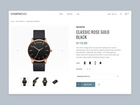 Watch Product Page ui watch clean ui ecommerce app website shopping app shopping modern blue clean