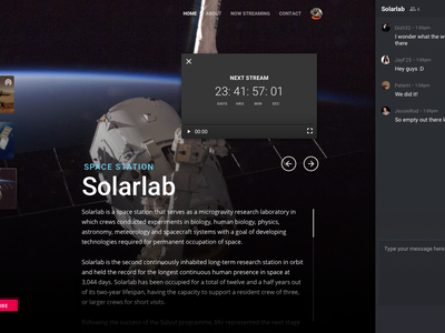 Orbix Space Live Streaming dashboard webapp dark streaming mars microinteraction future chat principle space app ux ui dark theme