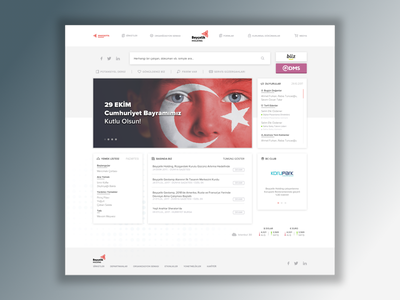 Intranet Dashboard #1 saas enterprise dashboard design web ux clean ui intranet