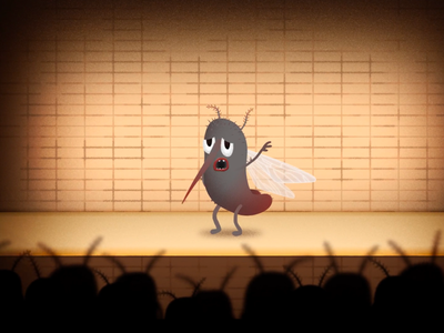 MoskitoTV Promotional Intro Animation rigging duik after effects aftereffects fly fly swatter humour animation standup comedy