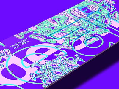 Skateborad Deck Design - Search & Destroy - Closeup typography mockup sleeve graphic design illustration skateboarding destroy deck art deck skateboard skate