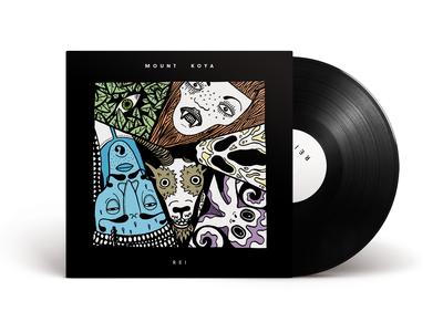Mount Koya – Vinyl Cover illustration legends monster band vinyl cover music vinyl