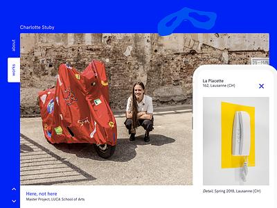 Charlotte Stuby – Artist Portfolio web responsive textile art portfolio