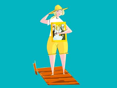 'Lovers like us' - pier scene deneuve catherine tribute scene illustration movie french pier frame design character