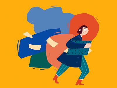 Freelancing! character design bold colourful bright illustration illustrator freelance life