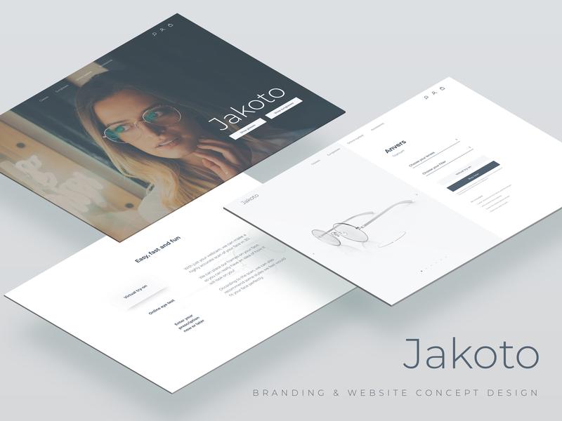 Jakoto | Branding & Website concept design illustrator photoshop sketch concept glasses branding ecommerce commerce cloud design ui behance project