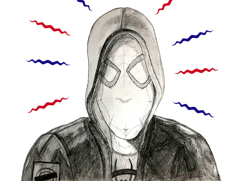 Spider-Man Pencil Drawing | Spider-Man: Into the Spider-Verse design spidey comic pencil art art drawing art sketching illustration comic art spider-man spiderman draw pencil drawing sketch