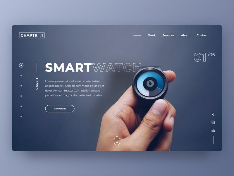 CHAPTR.1 | Homepage concept [1/2] web design minimalistic clean webdesign website homepage desktop photoshop cases pitch new business concept branding design ui sketch