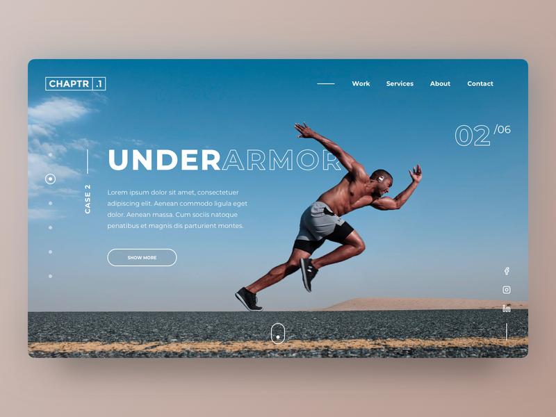 CHAPTR.1 | Homepage concept [2/2] webdesigner minimalistic clean webdesign website homepage desktop photoshop cases pitch new business concept branding design ui sketch