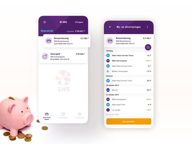 SNS | Banking App Redesign interface banking app app design banking app fresh look money redesign bank mobile concept branding ui design sketch
