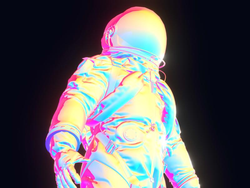 Blender experimental works 01 material space iridescentshader eevee iridescent shader