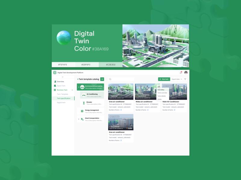 Digital Twin Product Vision Research web design model test webgl uiux interface animation 3d animation 3d data