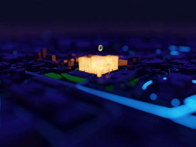 Animation test in Blender Eevee webgl blender3d blender 3d
