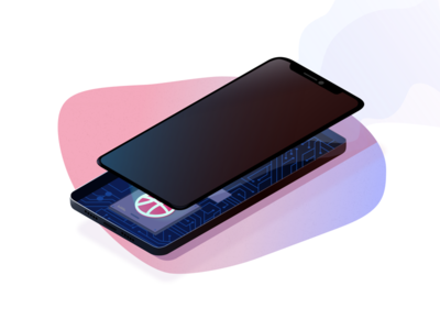 The phones CPU Strong performance phone mobile cpu chip iphonex shot first dribbble debut