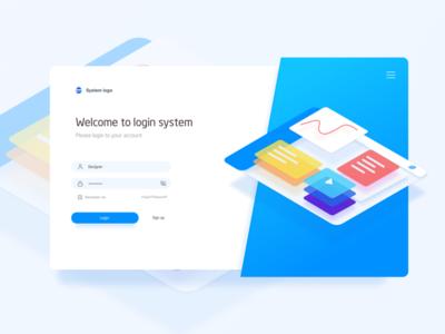 Welcome To Login System page,ui,sketch,ux,system web,login,landing