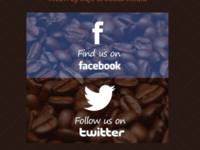 Coffee Social Media Buttons