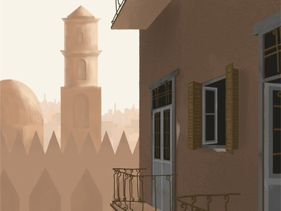 Cairo from my dreams art artwork mosque cairo egypt architecture drawing photoshop illustration digital illustration